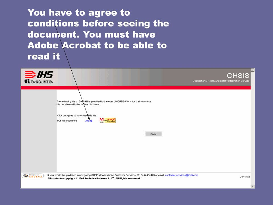You have to agree to conditions before seeing the document.