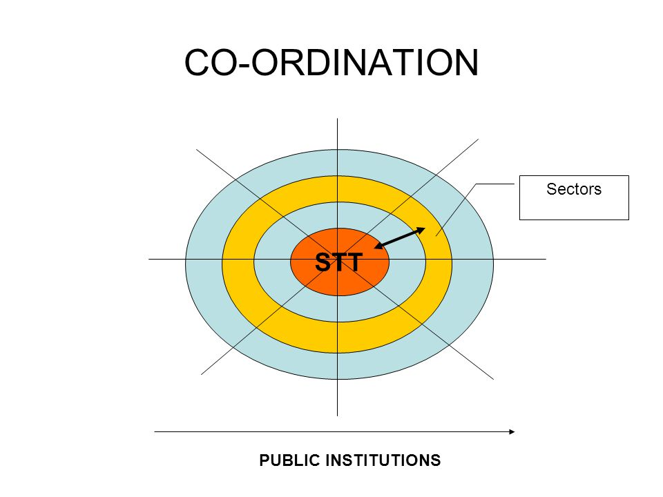 CO-ORDINATION STT PUBLIC INSTITUTIONS Sectors