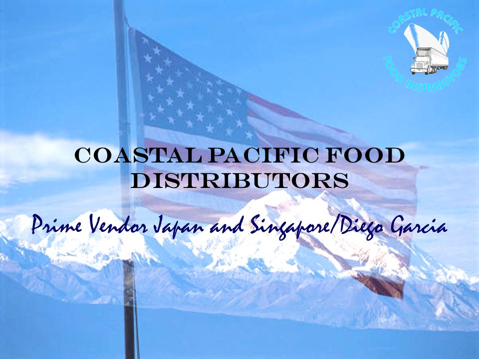 Coastal Pacific Food Distributors Prime Vendor Japan and