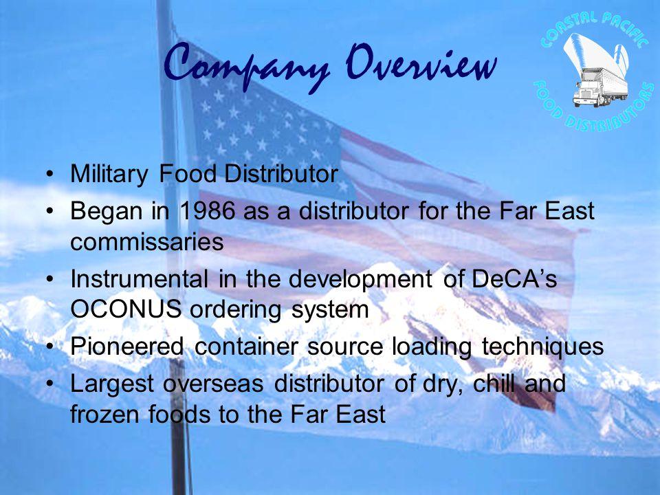 Coastal Pacific Food Distributors Prime Vendor Japan and Singapore