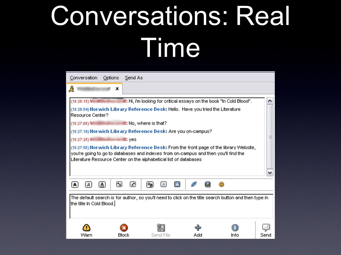 Conversations: Real Time