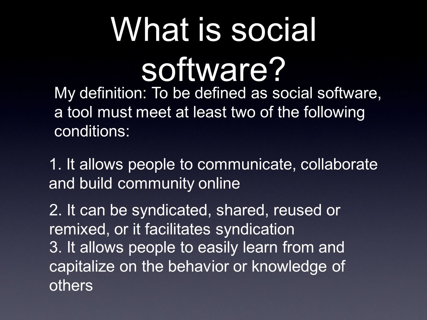 What is social software.