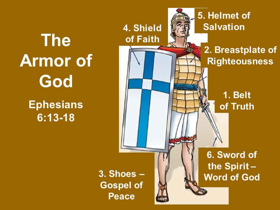 4 Shield Of Faith 1 Belt Of Truth 2 Breastplate Of