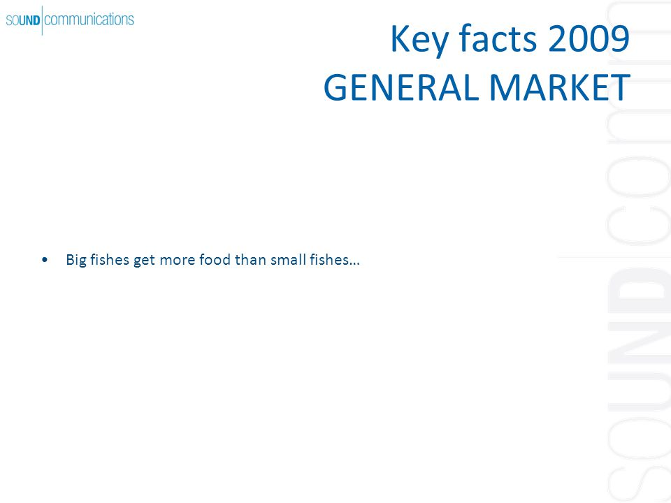 Key facts 2009 GENERAL MARKET Big fishes get more food than small fishes…