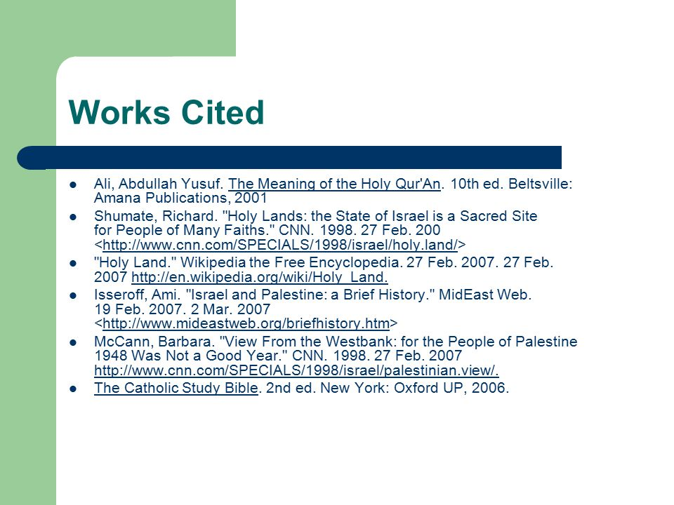 The Holy Land Jerusalem Judaism, Christianity, and Islam's