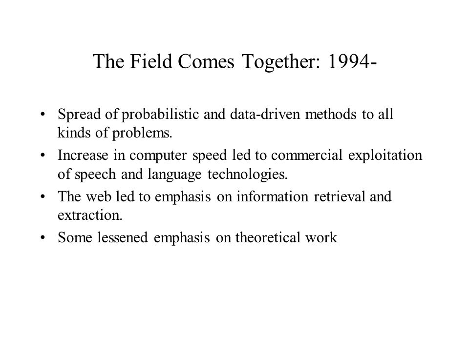 The Field Comes Together: Spread of probabilistic and data-driven methods to all kinds of problems.