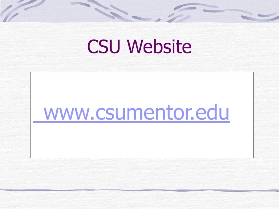 CSU Website