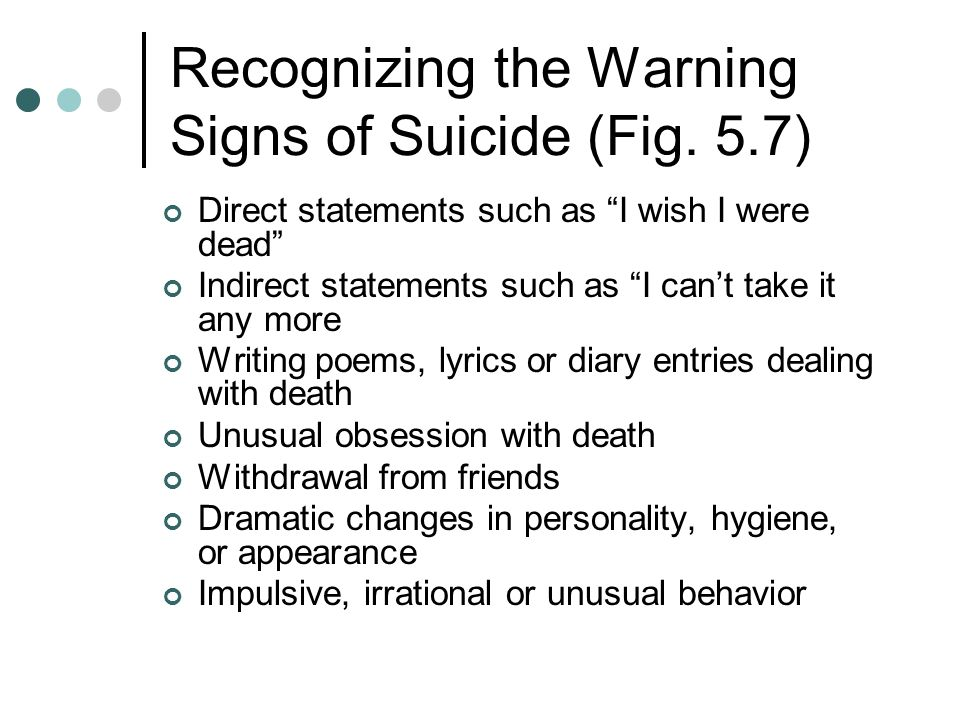 Recognizing the Warning Signs of Suicide (Fig.