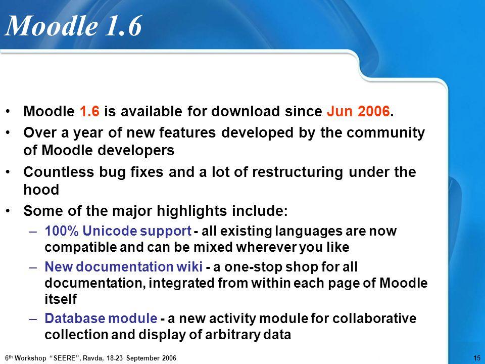 MOODLE 1.6 GRATUIT TÉLÉCHARGER