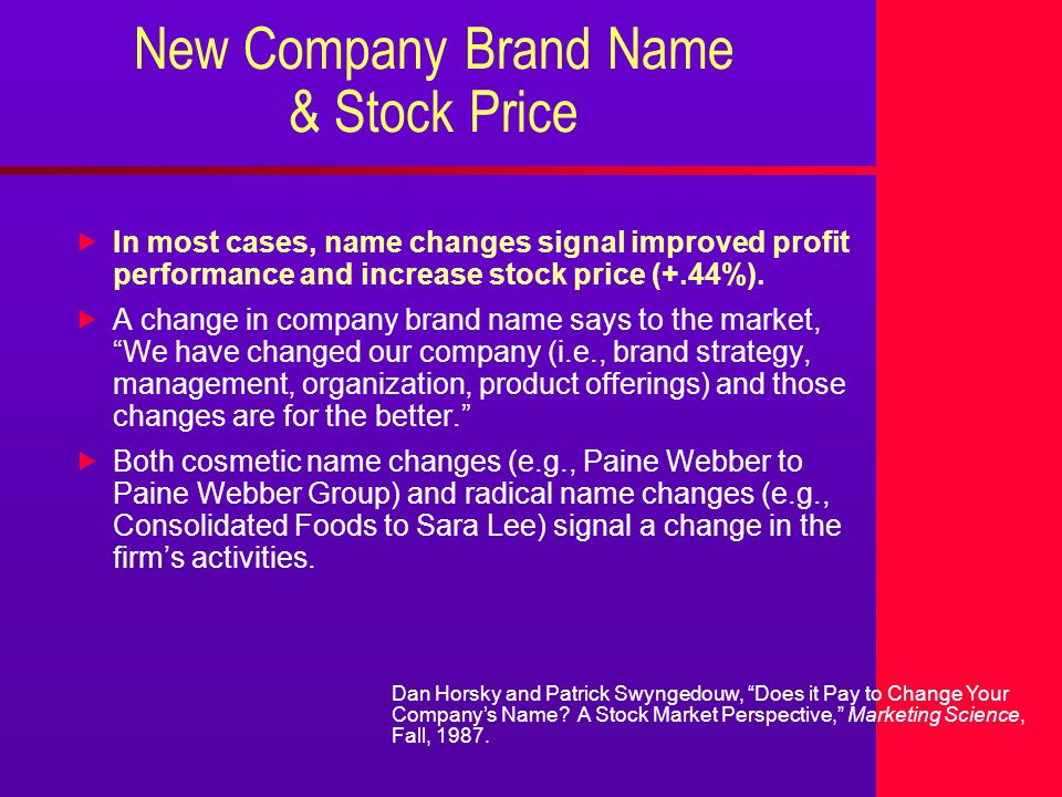 Using Brand Strategy To Increase Stock Price 2000 Brand Solutions