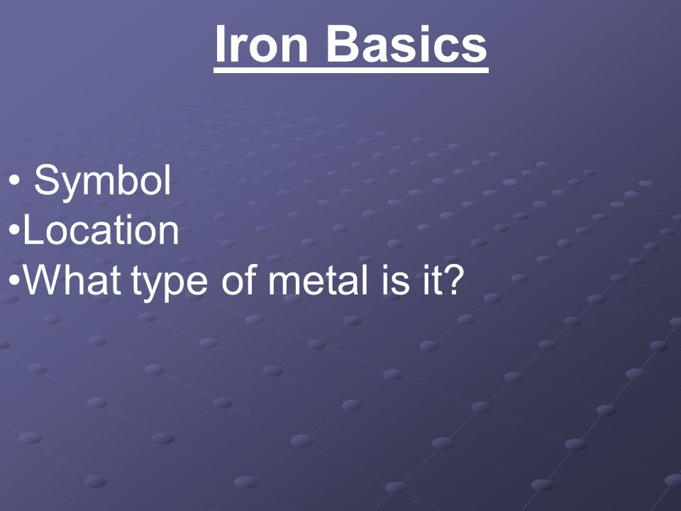 The Bloody Truth About Iron Iron Basics Symbol Location What Type