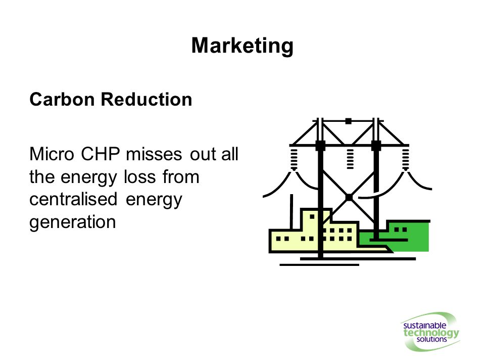 Marketing Carbon Reduction Micro CHP misses out all the energy loss from centralised energy generation