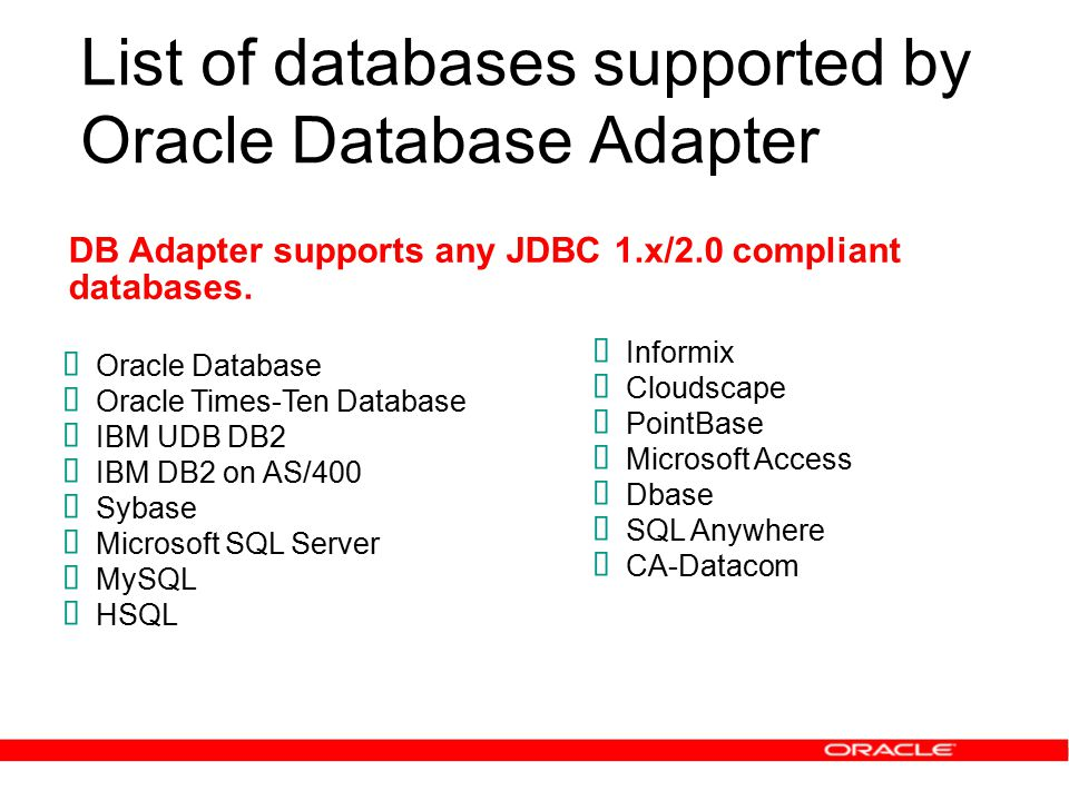 The Oracle SOA Suite How to Integrate Databases and Applications