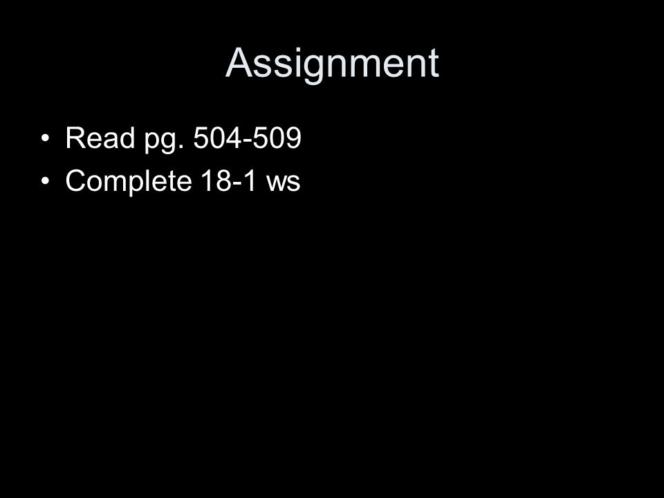 Assignment Read pg Complete 18-1 ws