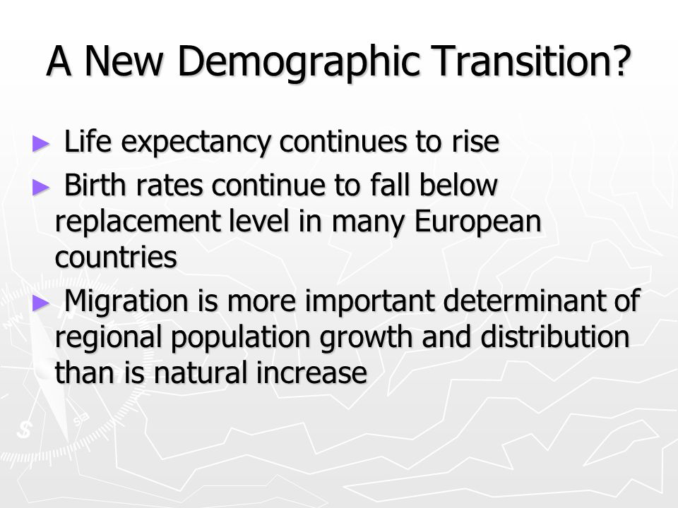 A New Demographic Transition.