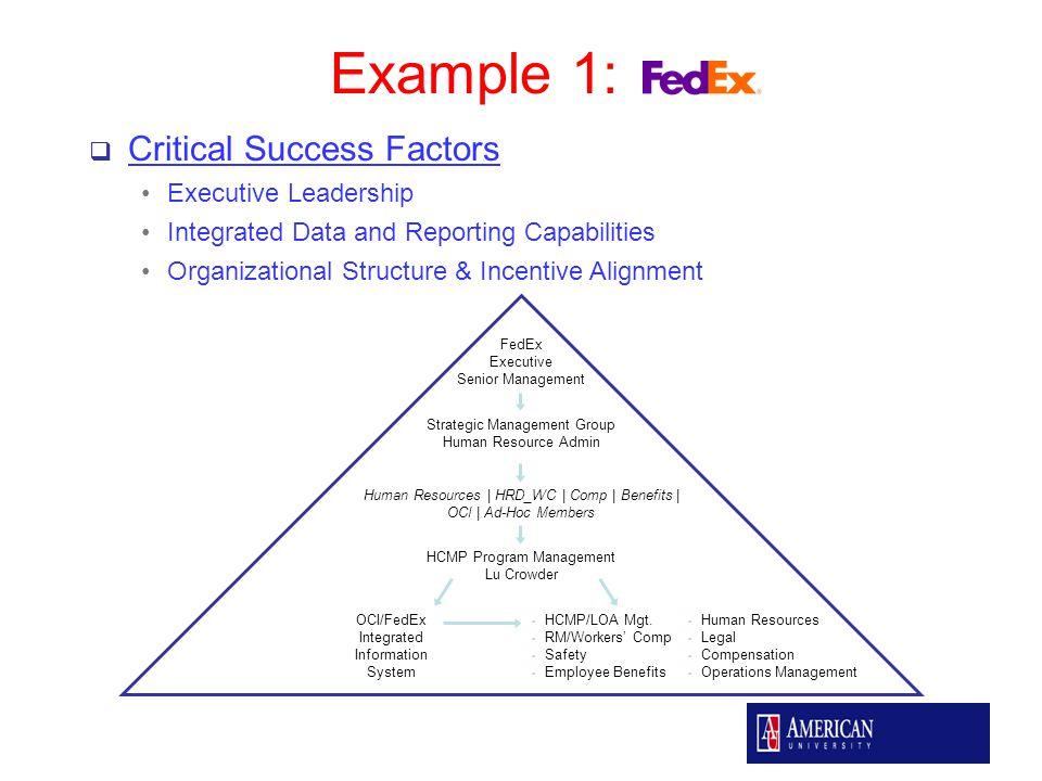fedex organizational structure