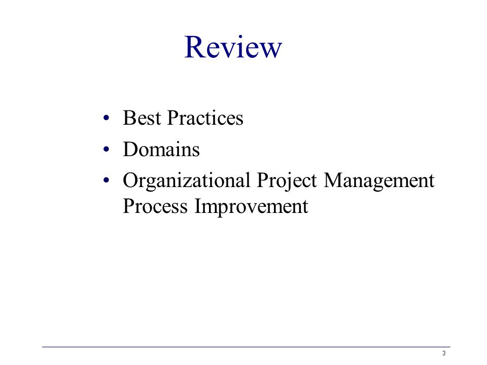 Organizational Project Management Maturity Organizational Project