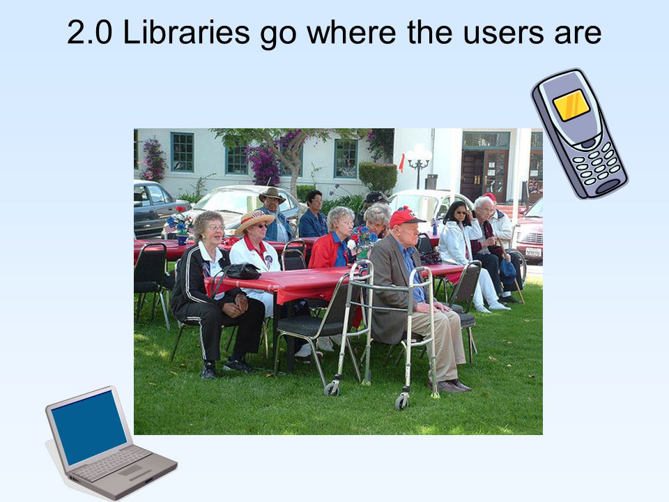 2.0 Libraries go where the users are