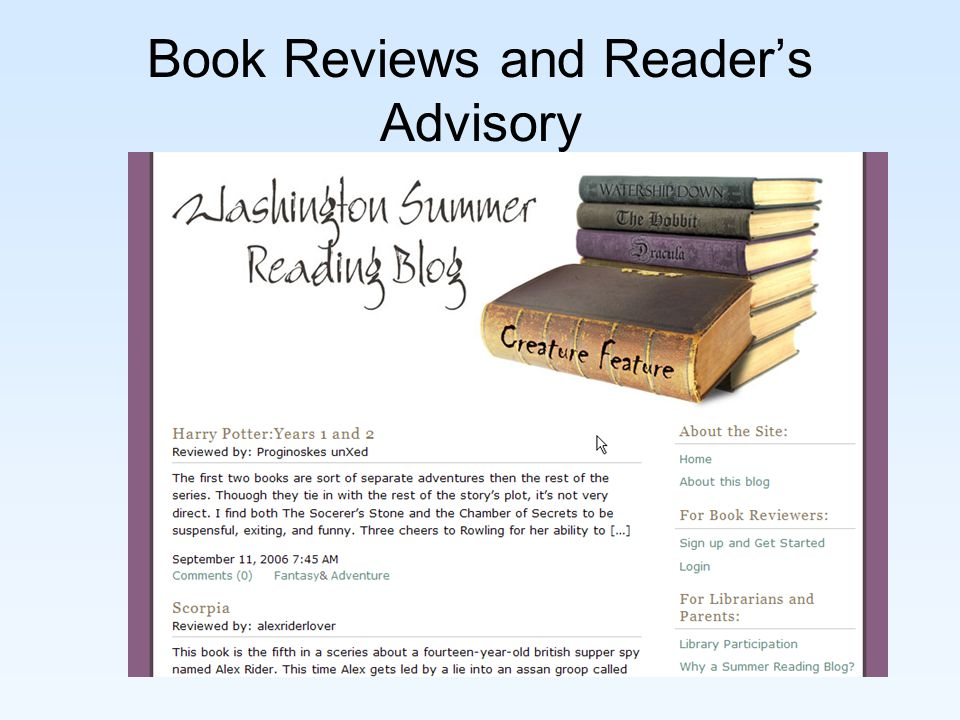 Book Reviews and Reader's Advisory