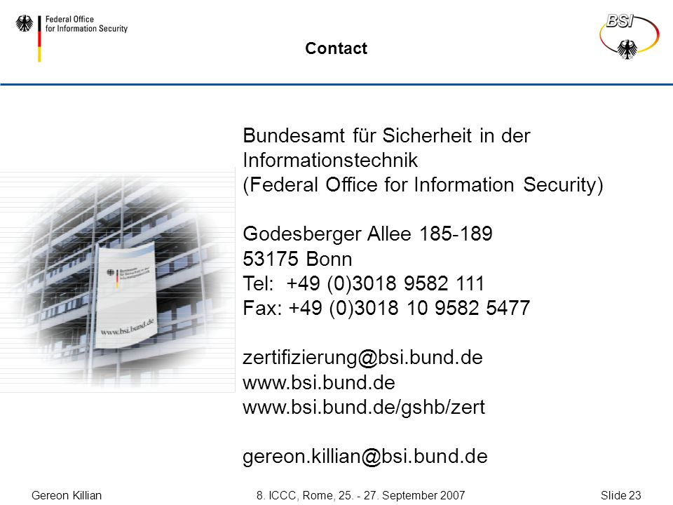 Graduated CC Protection Profiles for Cryptographic Modules Bundesamt ...