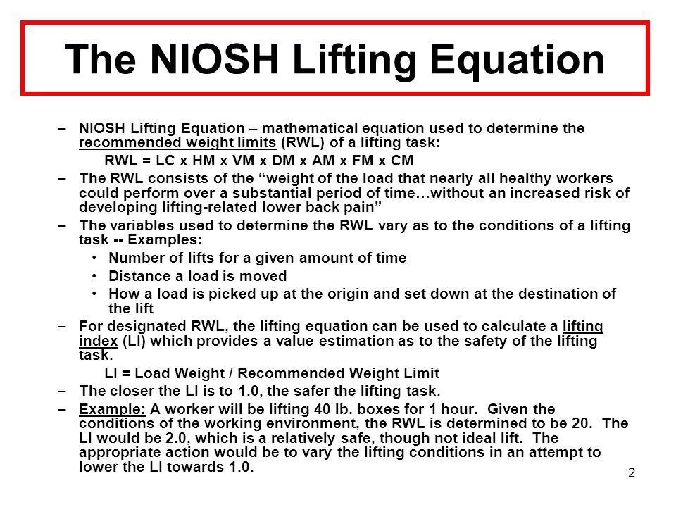 1 The Effectiveness of a NIOSH Multimedia Training Program