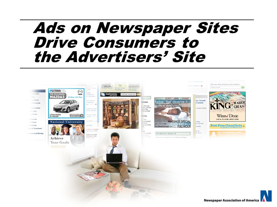 Ads on Newspaper Sites Drive Consumers to the Advertisers' Site