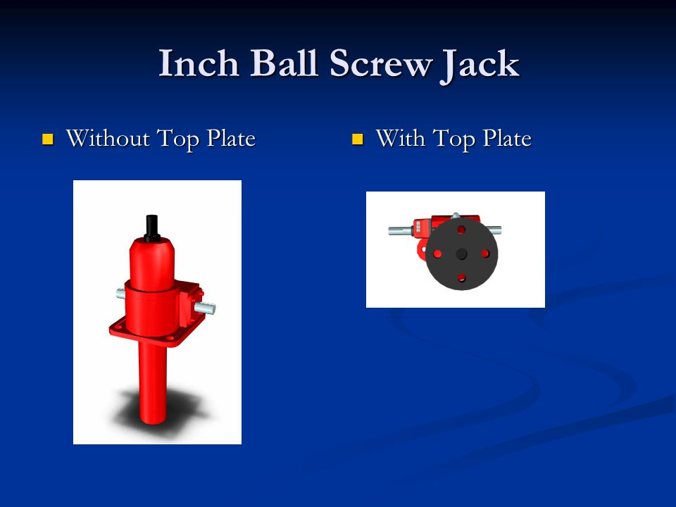 Inch Ball Screw Jack Without Top Plate Without Top Plate With Top Plate