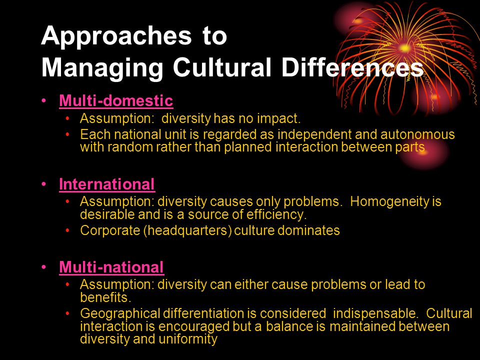 basic approaches to the study of cultural diversity essay Disclaimer: free essays on labor studies posted on this site were donated by anonymous users and are provided for informational use only the free labor studies research paper (cultural diversity in the workplace essay) presented on this page should not be viewed as a sample of our on-line writing service.