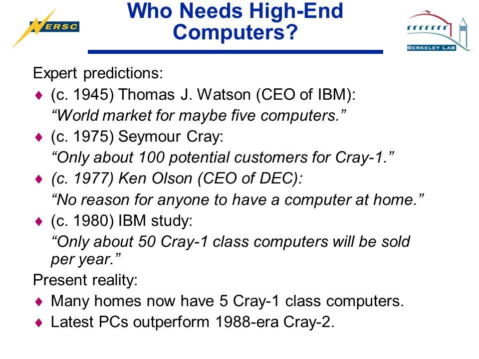 21st Century High-End Computing David H  Bailey Chief Technologist