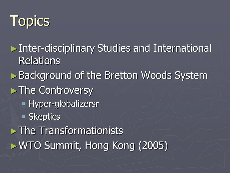 international relations topics for presentation