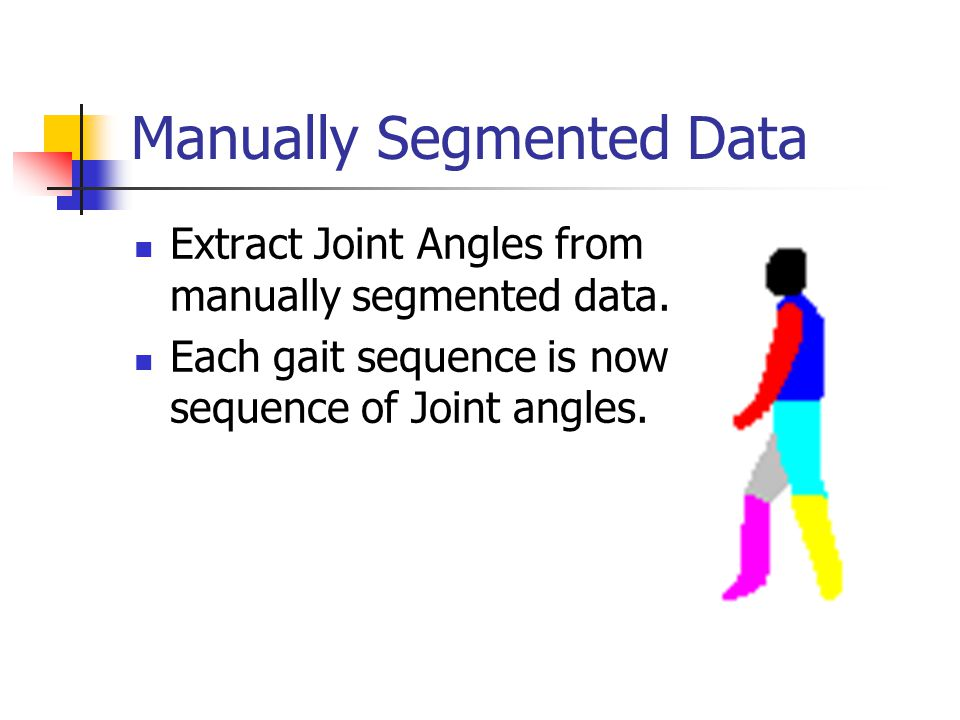 Manually Segmented Data Extract Joint Angles from manually segmented data.
