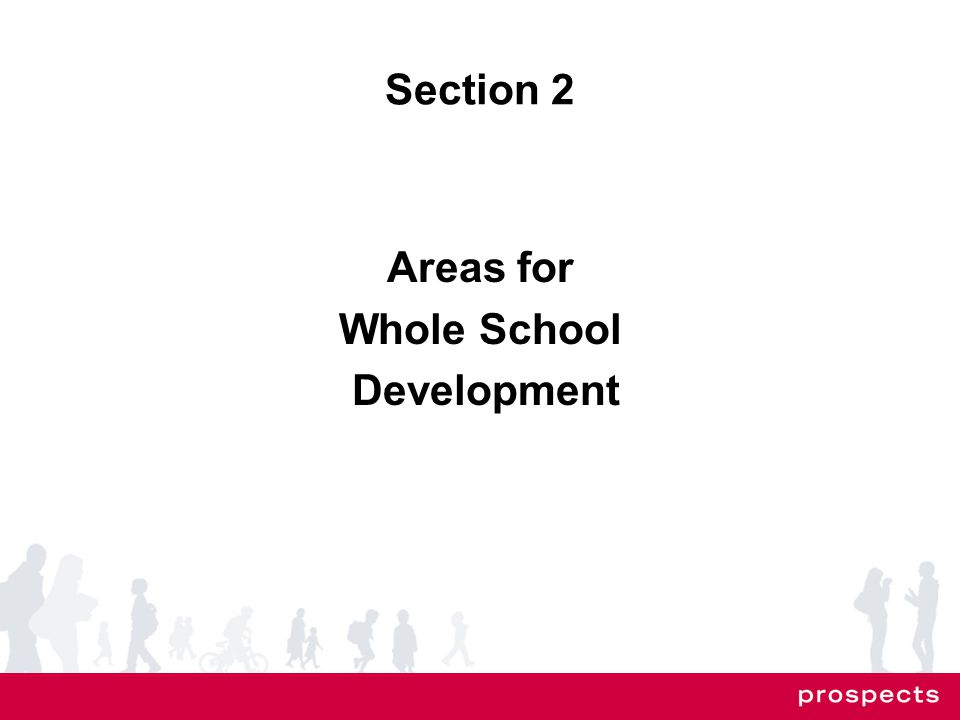 Section 2 Areas for Whole School Development