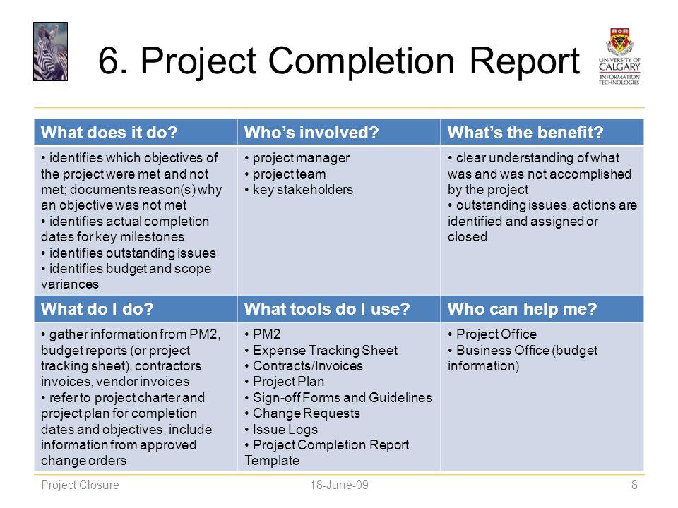 project closure report - Hizir kaptanband co