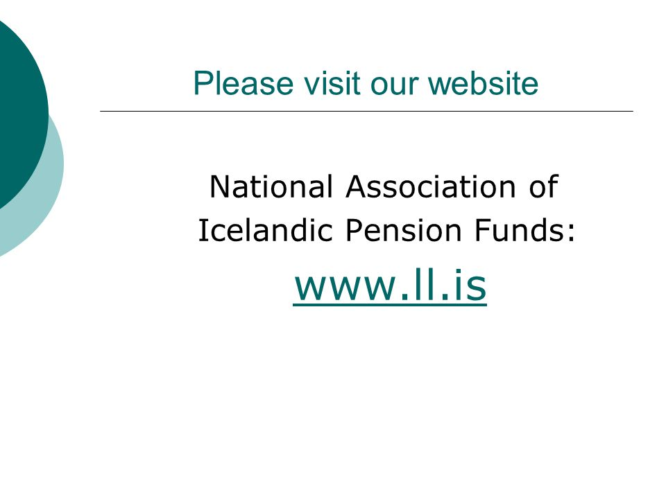Please visit our website National Association of Icelandic Pension Funds: