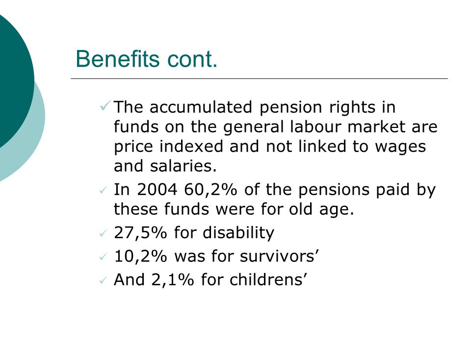 Benefits cont.