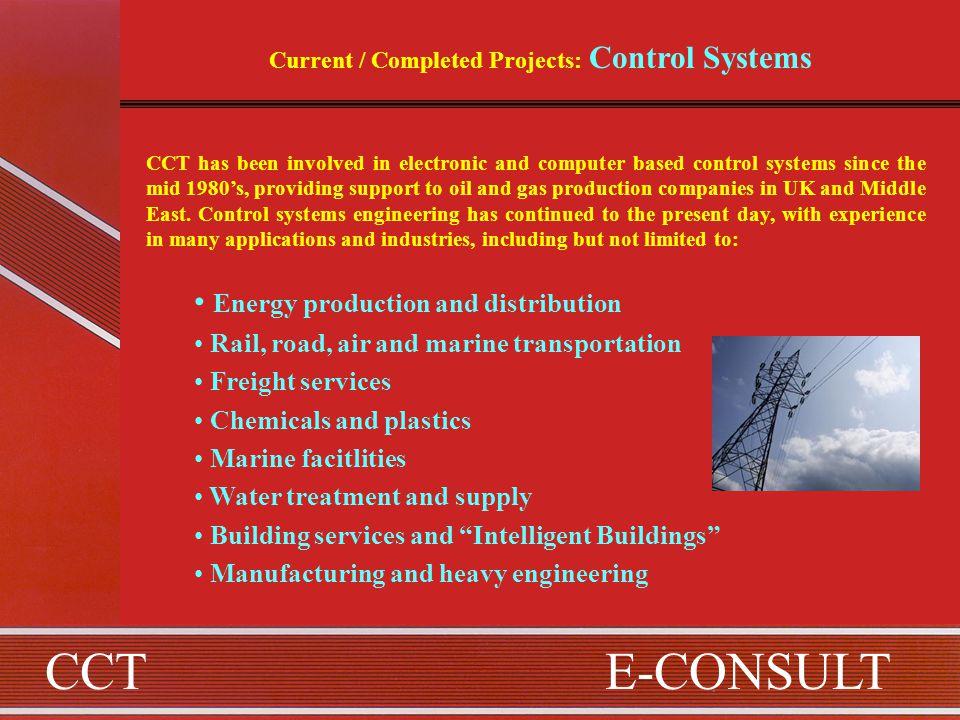 CCTE-CONSULT A PROFILE OF CCT & E-CONSULT GROUP COMPANIES