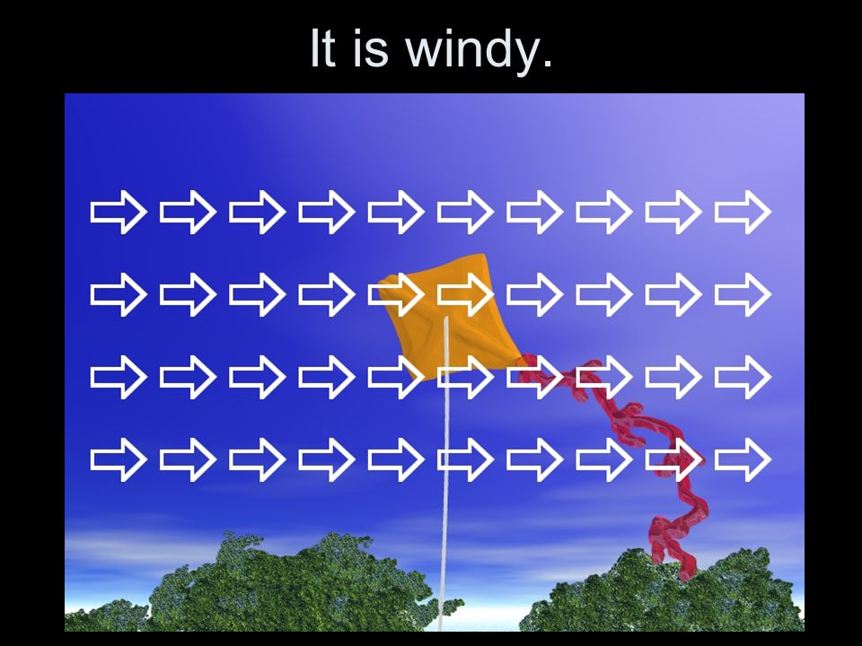 The weather is windy.