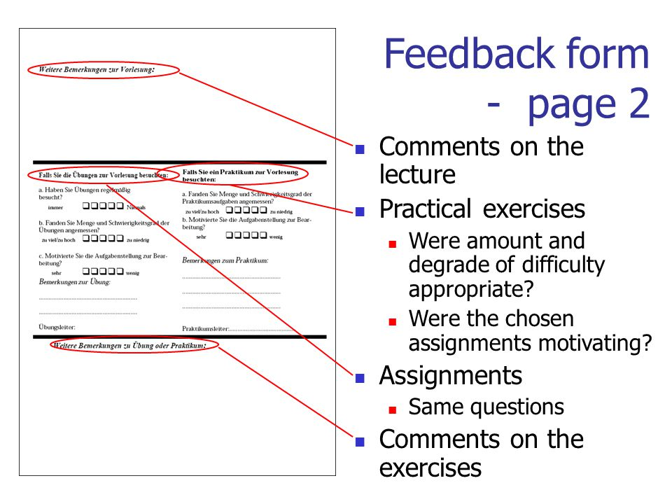 Evaluation Of Courses By Student Feedback Forms Kay Schuetzler
