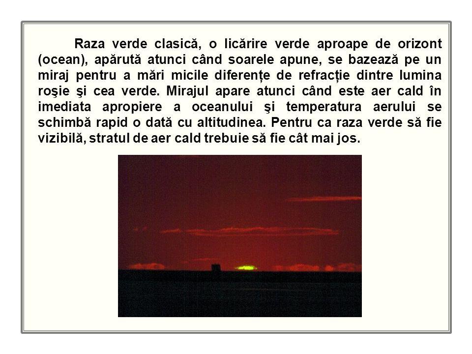 Dispersia luminii în aerul atmosferic Fenomene optice din