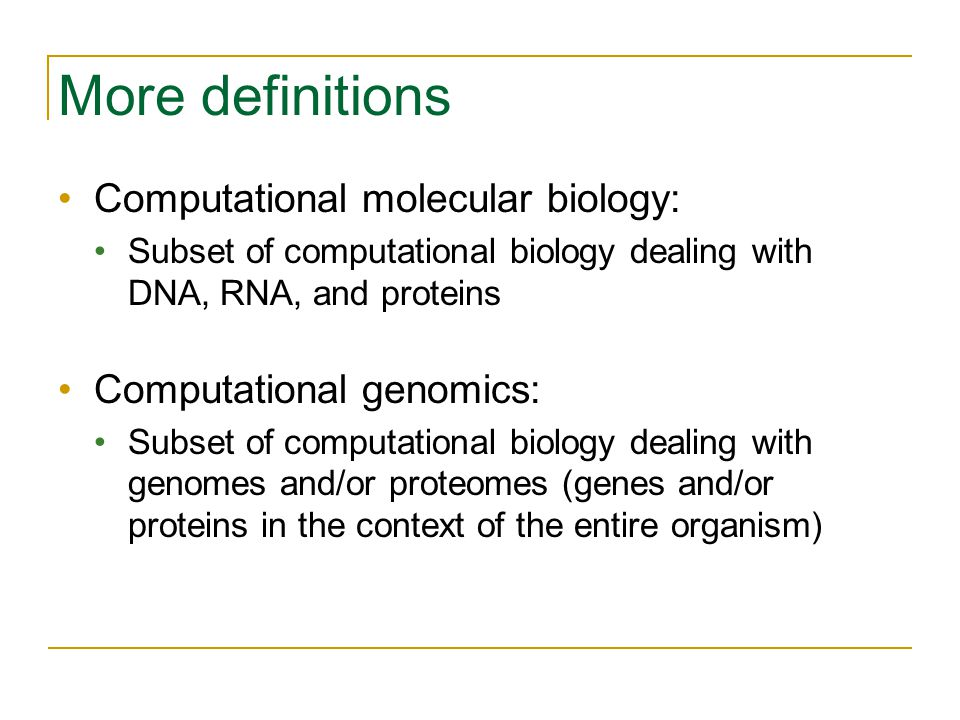 Additional references if biology background is needed