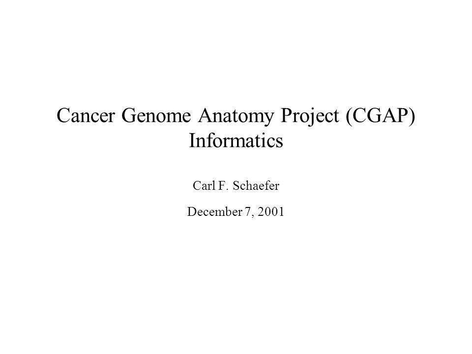 Awesome Cancer Genome Anatomy Project Image - Anatomy And Physiology ...