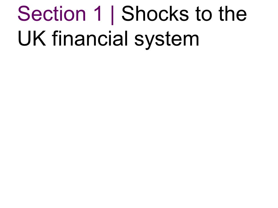 Section 1   Shocks to the UK financial system  Chart 1 1