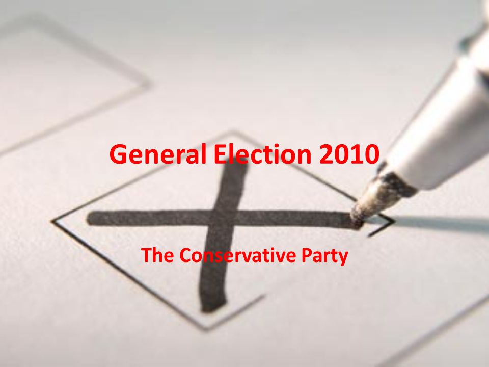 General Election 2010 The Conservative Party Symbol Leader David