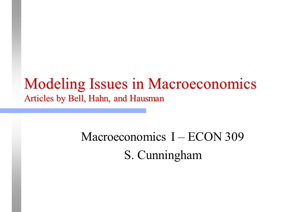 articles related to macroeconomics