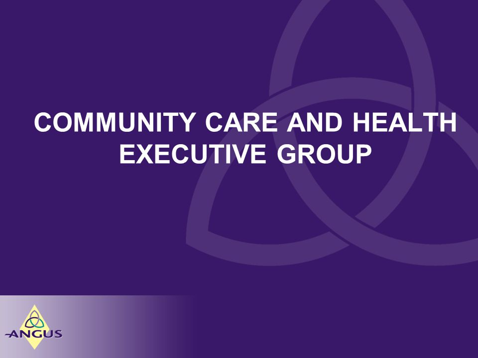 COMMUNITY CARE AND HEALTH EXECUTIVE GROUP