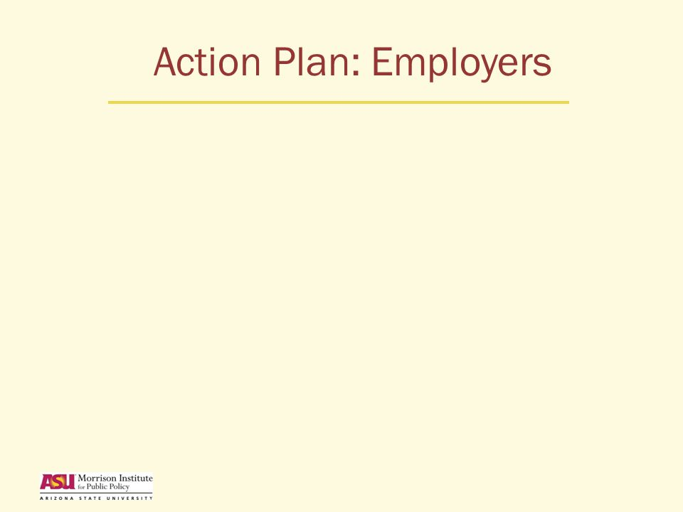 Action Plan: Employers