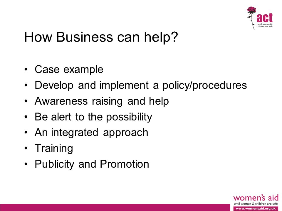 How Business can help.