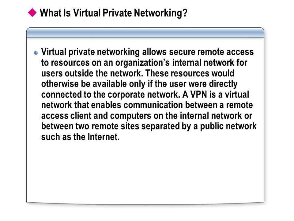 What Is Virtual Private Networking.