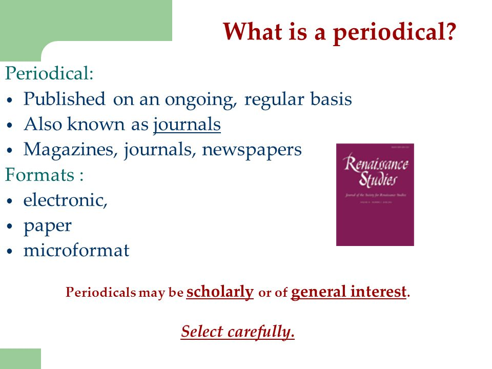 What is a periodical.