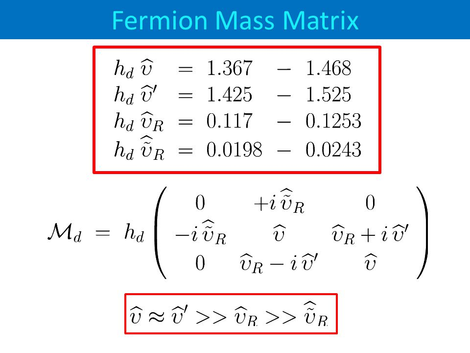 Fermion Mass Matrix